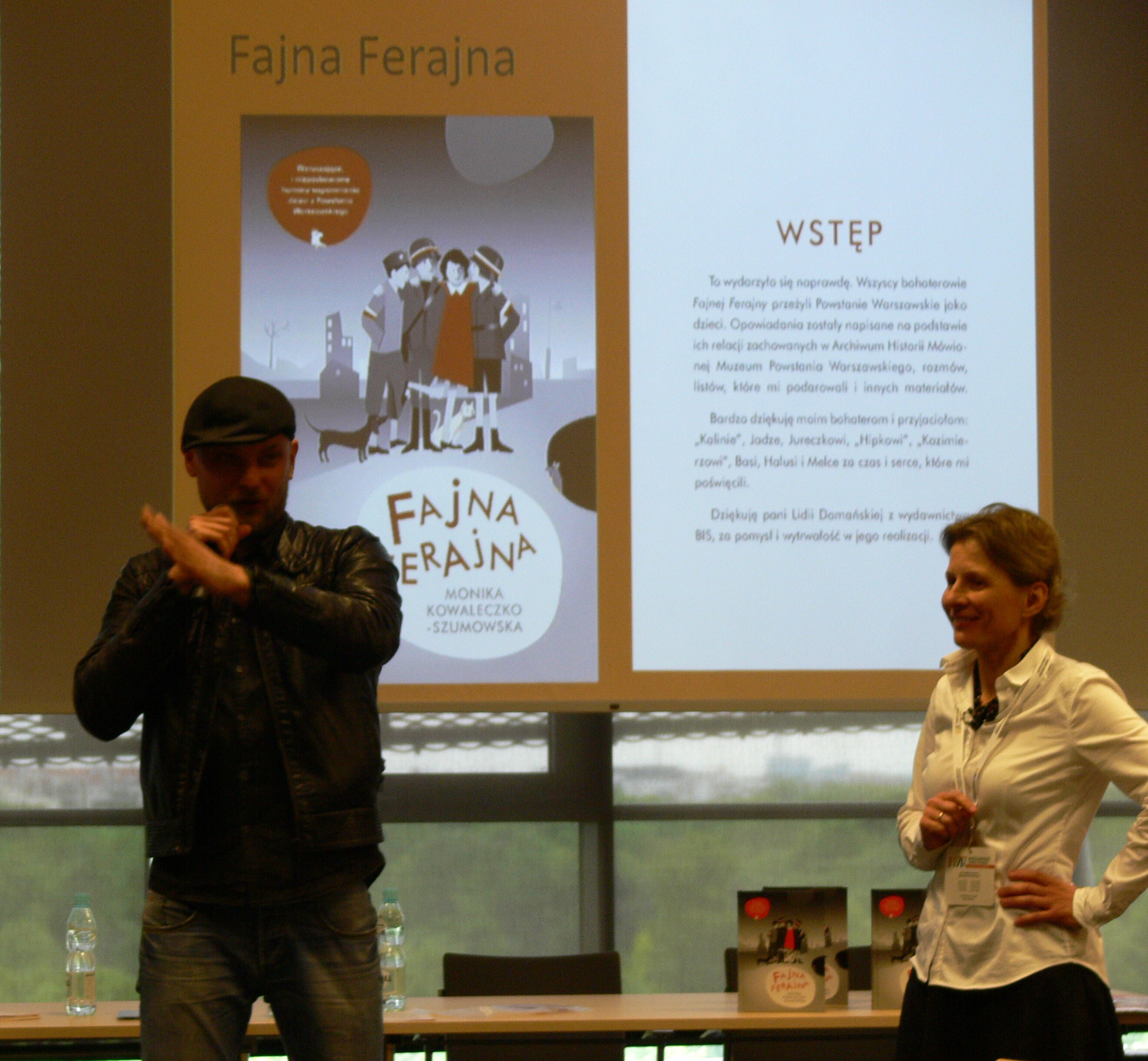 Wizyta na spotkaniu autorskim dot. książki-filmu Fajna Ferajna
